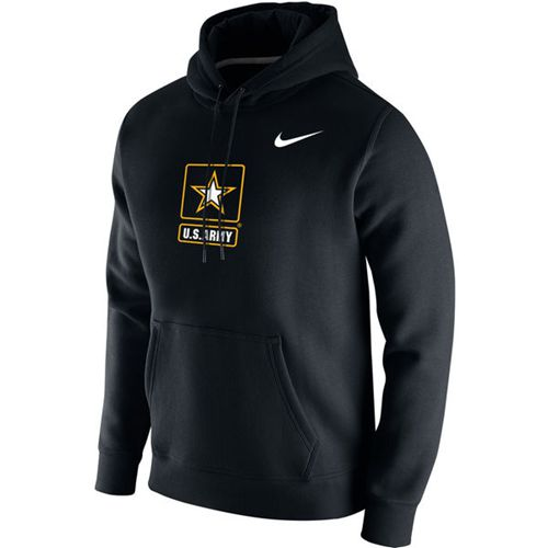 Army Black Knights Nike Big Logo Fleece Hoodie Black