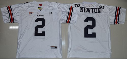Tigers #2 Newton White Stitched NCAA Jersey
