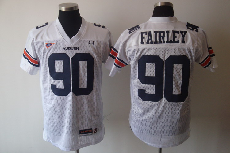 Tigers #90 Fairley White Stitched NCAA Jersey