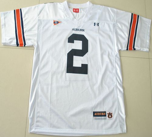 2012 New Tigers #2 Newton White Stitched NCAA Jersey