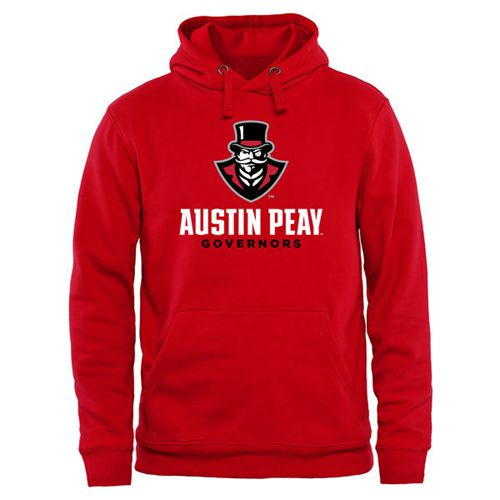 Austin Peay State Governors Team Strong Pullover Hoodie Red