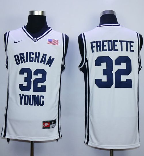 BYU Cougars #32 Jimmer Fredette White Basketball Stitched NCAA Jersey