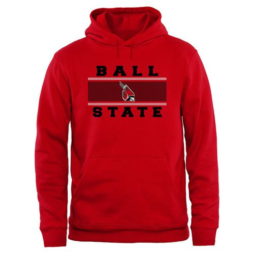 Ball State Cardinals Big & Tall Micro Mesh Sweatshirt Red
