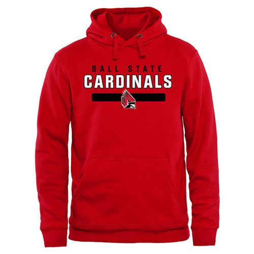 Ball State Cardinals Team Strong Pullover Hoodie Red