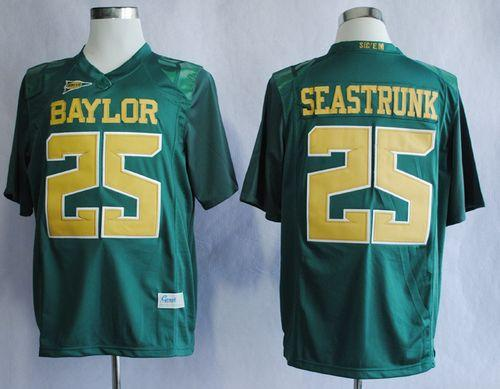 Bears #25 Lache Seastrunk Green Stitched NCAA Jersey