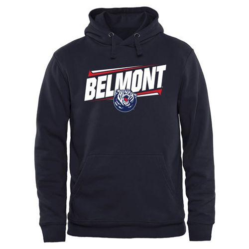 Belmont Bruins Double Bar Pullover Hoodie Navy