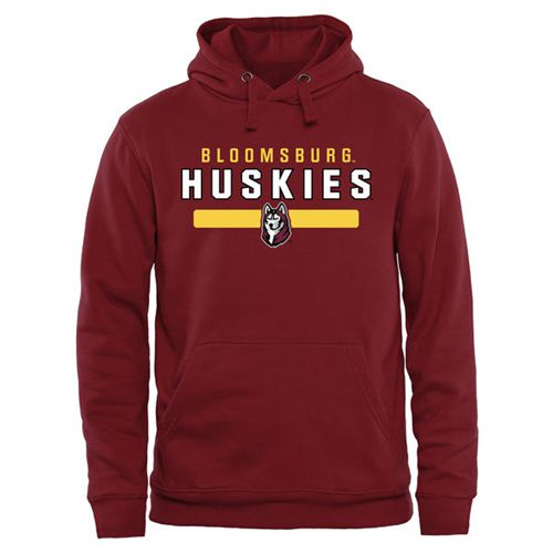 Bloomsburg Huskies Team Strong Pullover Hoodie Garnet