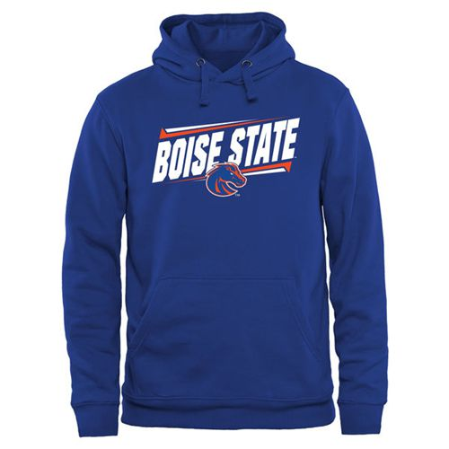 Boise State Broncos Double Bar Pullover Hoodie Royal