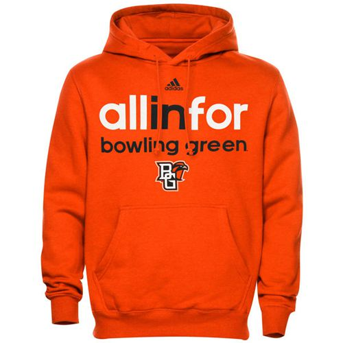 Bowling Green St. Falcons Adidas Ultimate All In For Hoodie Orange
