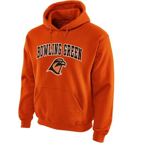 Bowling Green St. Falcons Midsize Arch Pullover Hoodie Orange