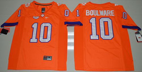 Tigers #10 Ben Boulware Orange Limited Stitched NCAA Jersey