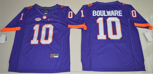 Tigers #10 Ben Boulware Purple Limited Stitched NCAA Jersey
