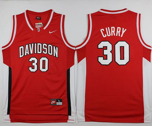 Wildcats #30 Stephen Curry Red Basketball Stitched NCAA Jersey