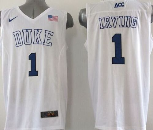 Blue Devils #1 Kyrie Irving White Basketball Elite Stitched NCAA Jersey