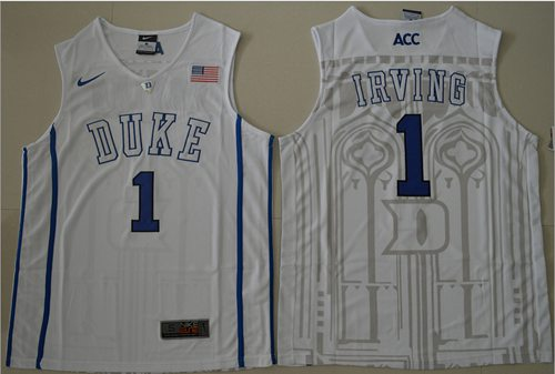 Blue Devils #1 Kyrie Irving White Basketball Stitched NCAA Jersey