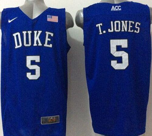 Blue Devils #5 Tyus Jones Royal Blue Basketball Elite Stitched NCAA Jersey