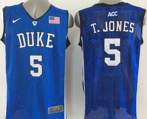Blue Devils #5 Tyus Jones Royal Blue Basketball New Stitched NCAA Jersey