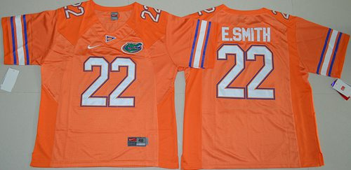 Gators #22 Emmitt Smith Orange Stitched NCAA Jersey
