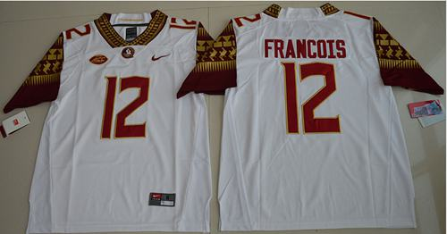 Seminoles #12 Deondre Francois White Limited Stitched NCAA Jersey