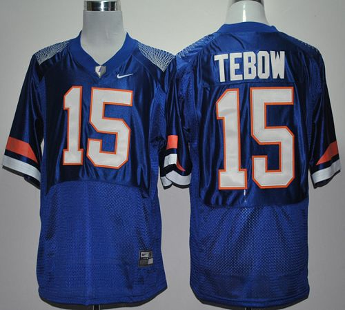 Gators #15 Tim Tebow Blue Pro Combat Stitched NCAA Jersey