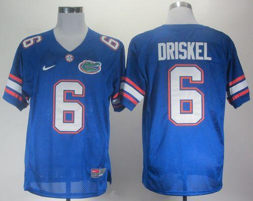 Gators #6 Jeff Driskel Blue Stitched NCAA Jersey