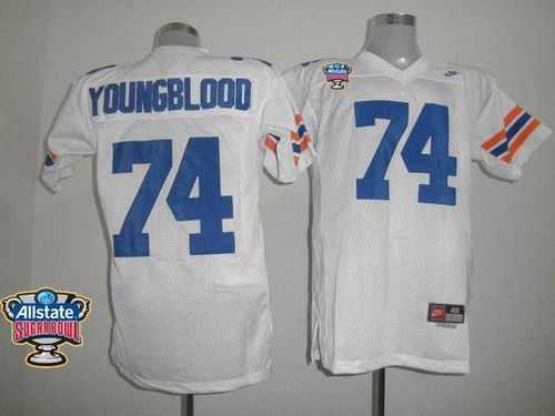 Gators #74 Jack Youngblood White Allstate Sugar Bowl Stitched NCAA Jersey