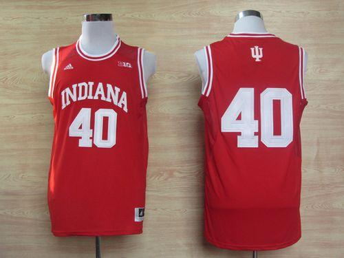 Hoosiers #40 Cody Zeller Red Basketball Stitched NCAA Jersey