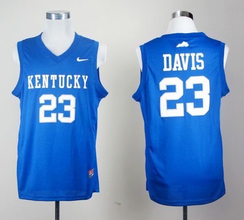 Wildcats #23 Anthony Davis Royal Blue Stitched NCAA Jersey