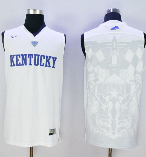 Wildcats Blank White Basketball Stitched NCAA Jersey