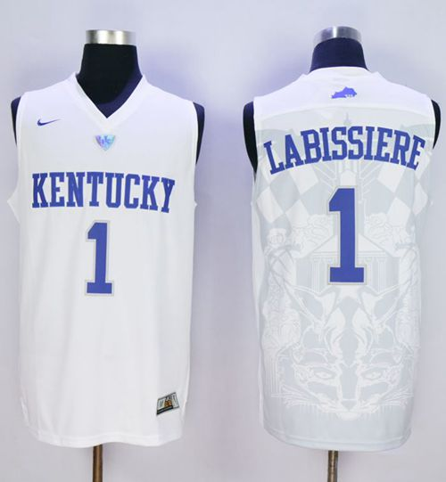 Wildcats #1 Skal Labissiere White Basketball Stitched NCAA Jersey