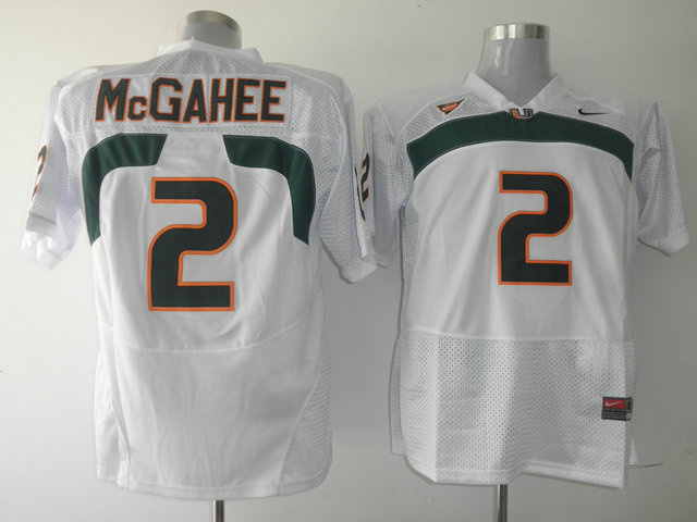 Hurricanes #2 Willis McGahee White Stitched NCAA Jerseys