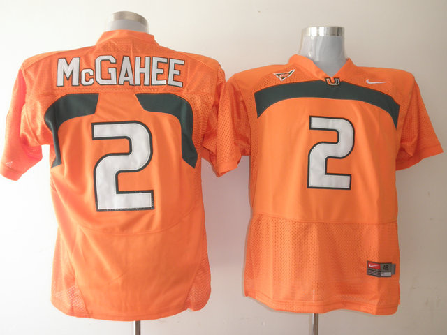 Hurricanes #2 Willis McGahee Orange Stitched NCAA Jerseys
