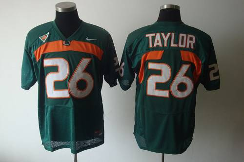 Hurricanes #26 Sean Taylor Green Stitched NCAA Jerseys