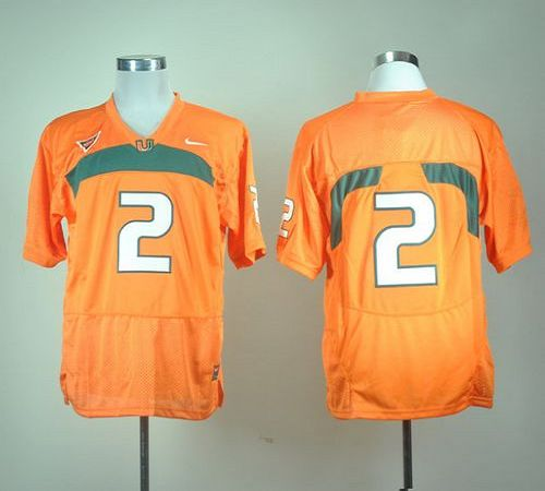 Hurricanes #2 Orange Stitched NCAA Jerseys