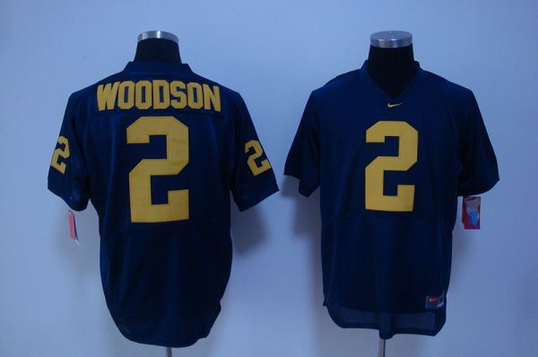 Wolverines #2 Charles Woodson Blue Stitched NCAA Jersey