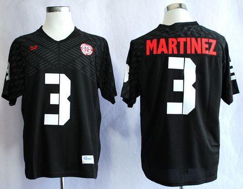 Cornhuskers #3 Taylor Martinez Black New Big 10 Stitched NCAA Jersey