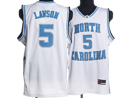 North Carolina #5 Ty Lawson White Stitched NCAA Jersey