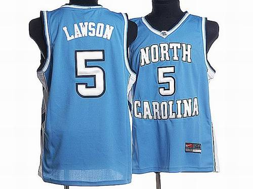 North Carolina #5 Ty Lawson Blue Stitched NCAA Jersey