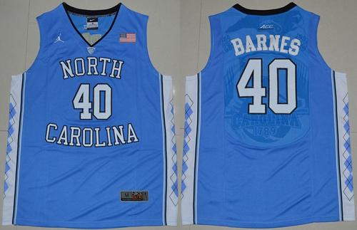 North Carolina #40 Harrison Barnes Blue Stitched NCAA Jersey