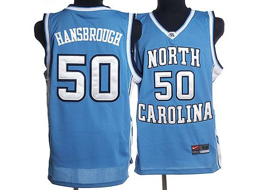 North Carolina #50 Tyler Hansbrough Blue Stitched NCAA Jersey