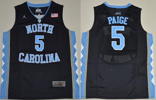 North Carolina #5 Marcus Paige Black Basketball Stitched NCAA Jersey