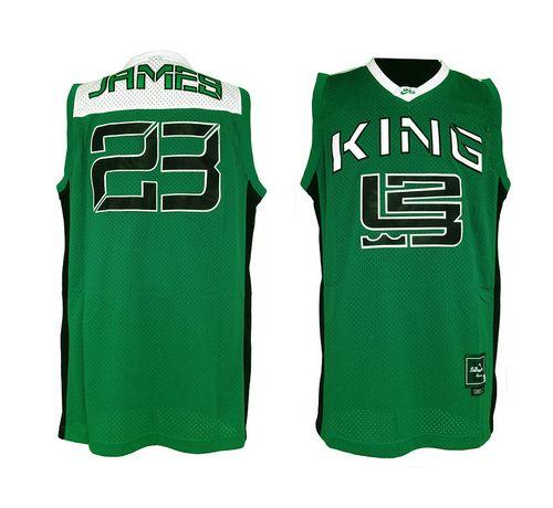 Fighting Irish #23 Lebron James Green Basketball Throwback Stitched NCAA Jersey