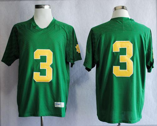Fighting Irish #3 Joe Montana Green Stitched NCAA Jersey