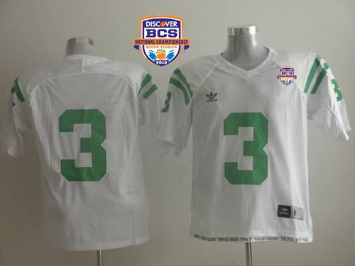 Dame #3 Joe Montana White 2013 BCS National Championship Stitched NCAA Jersey
