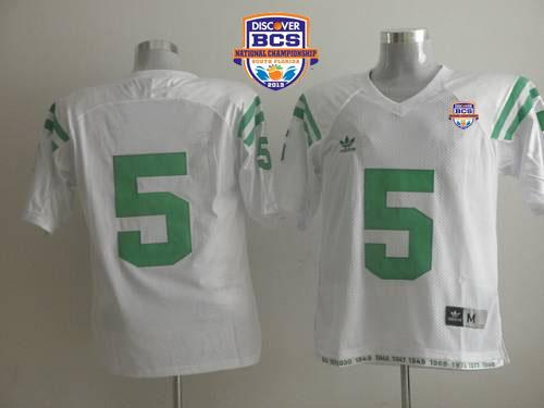 Fighting Irish #5 Everett Golson White 2013 BCS National Championship Stitched NCAA Jersey