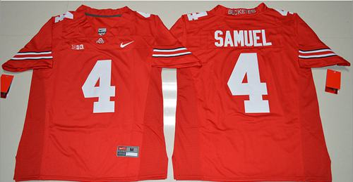 Buckeyes #4 Curtis Samuel Red Stitched NCAA Jersey