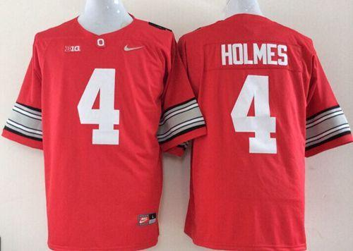 Buckeyes #4 Santonio Holmes Red Stitched NCAA Jersey