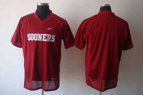 Sooners Blank Red Stitched NCAA Jersey