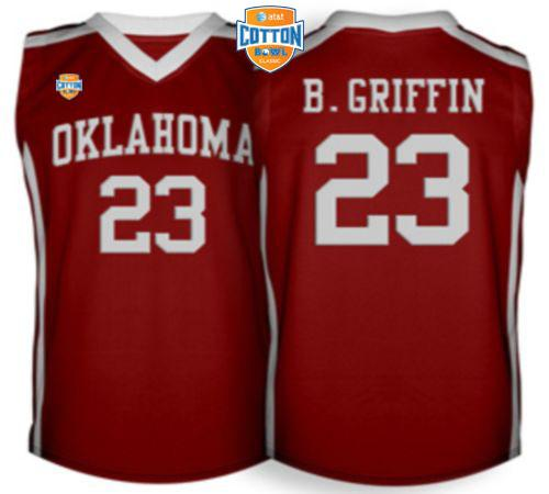 Sooners #23 Blake Griffin Red Basketball AT&T Cotton Bowl Stitched NCAA Jersey