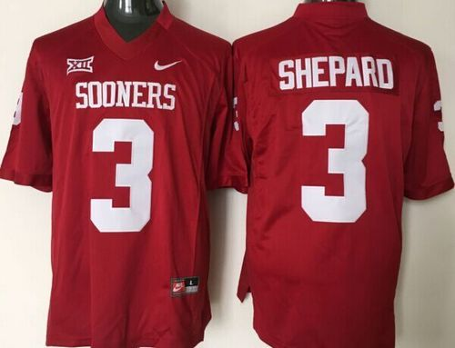 Sooners #3 Sterling Shepard Red XII Stitched NCAA Jersey